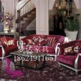 供应郑州欧式沙发客厅田园布艺沙发组合新古典沙发会所售楼部美容院家具