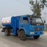 供应东风多利卡挂桶式垃圾车 自装卸式垃圾车价格