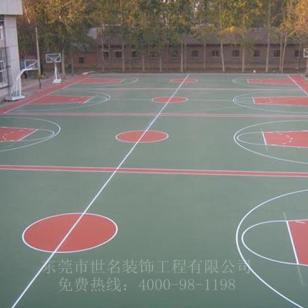 篮球场防滑地坪漆图片