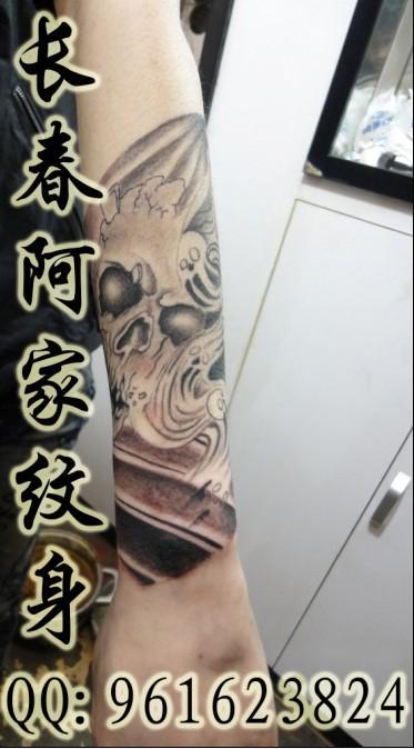 后背鬼纹身::后背纹身图案大全图片::纹身后背五鬼扛图片