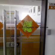青岛开发区钢化玻璃门安装公司图片