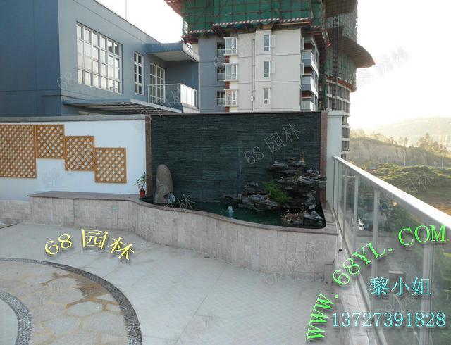 阳台景观鱼池图片 家庭阳台景观鱼池图片 阳台假山鱼池景观图图片