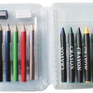 供应PET笔盒包装/吸塑笔套/彩色笔托