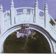景观石栏杆/草白玉栏杆/玉石栏杆图片