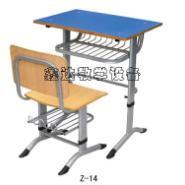 圆管课桌椅/固定式课桌椅图片