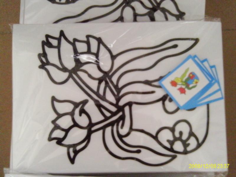 供应烤胶画彩绘画儿童diy胶画