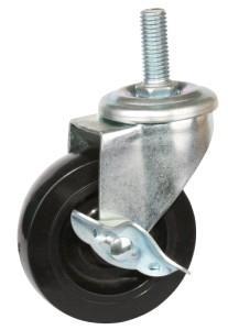 脚轮万向轮3寸丝杆式橡胶脚轮图片/脚轮万向轮3寸丝杆式橡胶脚轮样板图 (2)