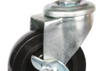 脚轮万向轮3寸丝杆式橡胶脚轮图片
