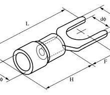 供应叉型预绝缘端子叉型端头SV冷压端子