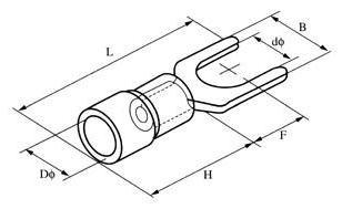 叉型预绝缘端子叉型端头SV冷压端子图片