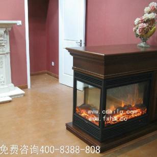 叁面3视窗观火焰电壁炉精品图片