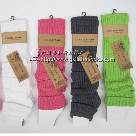 毛线 袜套/供应净色粗针毛线袜套/袜套代加工定做图片