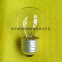 供应G45球型灯泡E27透明白炽灯泡白炽灯