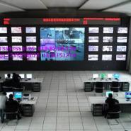 西安监控电视墙监控柜图片