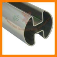 不锈钢圆管180双槽管图片