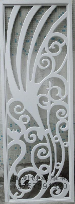 供应7E雕花板/镂空板/背景墙隔断烤漆