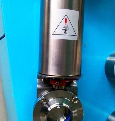 气动卫生级蝶阀图片/气动卫生级蝶阀样板图 (3)