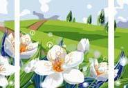尚典蒙娜丽莎数字油画三拼画系列图片