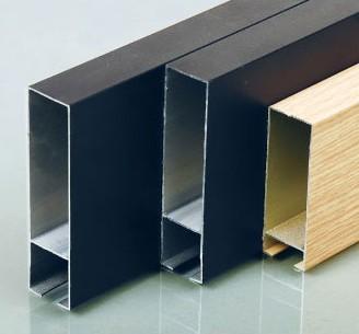 供应铝型材方通木纹铝方通铝U型方通