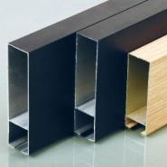 铝型材方通木纹铝方通铝U型方通图片