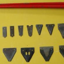 供应切割器总成配件、刀片、刀杆、护刃器、耙齿锻造