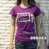 东莞女装纯棉T恤批发女式高领长袖