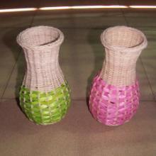 供应手工编织花瓶,手工编织工艺品,植物编织工艺品