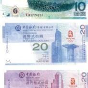 高价回收10元奥运会纪念钞价格图片