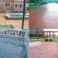 彩色水泥压花地坪图片