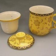 办公陶瓷茶杯定做陶瓷会议杯定做图片