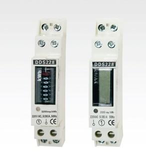 供应1P液晶显示导轨式电能表导轨安装