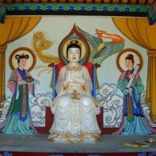 延安古建修复 延安古建筑彩绘设计绘画 延安凉亭寺庙彩绘壁画图片