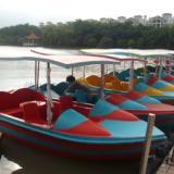 电动船电瓶船休闲电动船观光电动船游乐电动船玻璃钢电动船 4-5人电动船