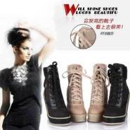 韩版女鞋内增高流苏靴冬毛中筒短靴图片