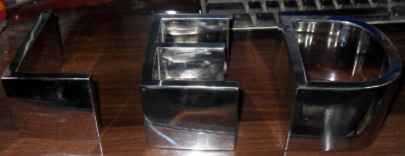 供应精工不锈钢镜面字