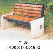 湖南公园休闲椅图片
