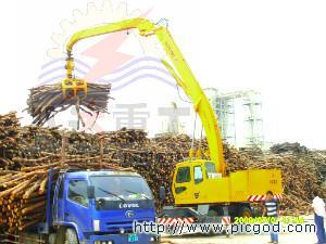 供应刨花板枝桠材木材卸车堆高堆垛机