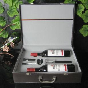 高档气压红酒酒箱4件套ABS款图片