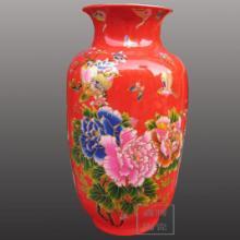 供应中国红花瓶价格/优质红瓷花瓶