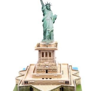 自由女神像雕塑纸模型图片