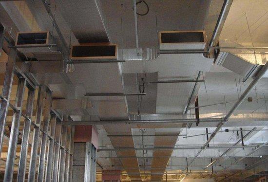 空调风管制作_玻镁风管制作安装图片_玻镁风管制作安装样板图/效果图_西安 ...