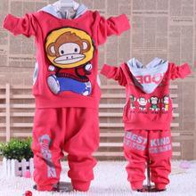 供应小猴子童装宝宝儿童运动套装