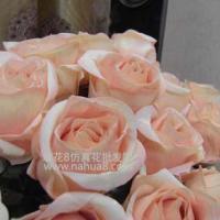 单枝高档绒布玫瑰绢花批发-仿真花
