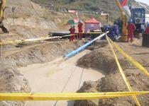 供应舟曲县定向钻施工队热力管道铺设图片