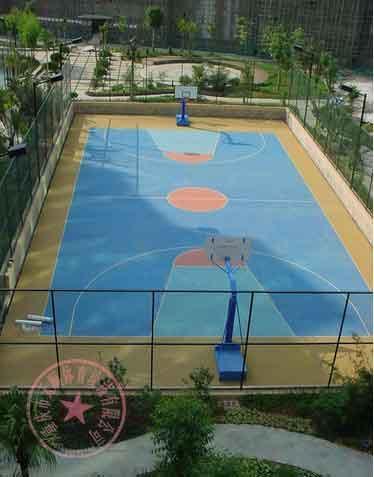 重庆小区篮球场地施工,涪陵区丙烯酸羽毛球场,九龙坡区硅PU网球场建造