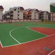 硅PU羽毛球场施工图片