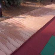 青岛绿可优质木塑地板图片