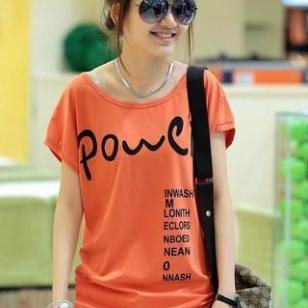 韩版女装纯棉T恤图片