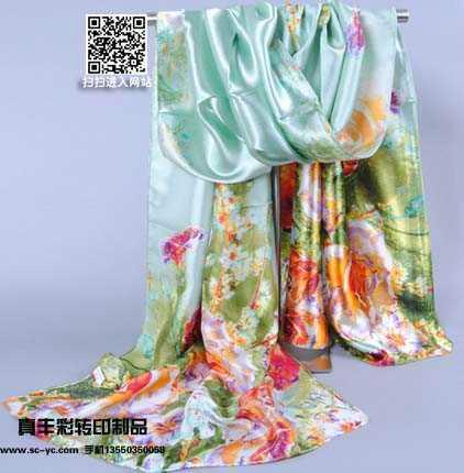 供应成都广告丝巾定制个性礼品丝巾热转印彩色真丝丝巾定制