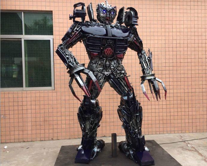 欧俊/供应大型金属变形金刚机器人图片